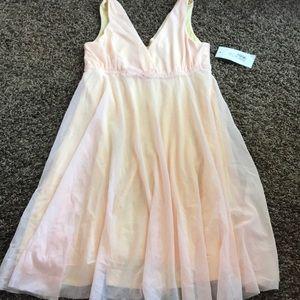 Aqua babydoll tank dress